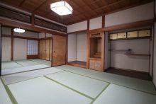 障子と畳を入れ替えて壁を塗り替えた和室の続き間